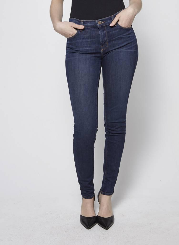 J Brand Jeans skinny bleu foncé effet délavé