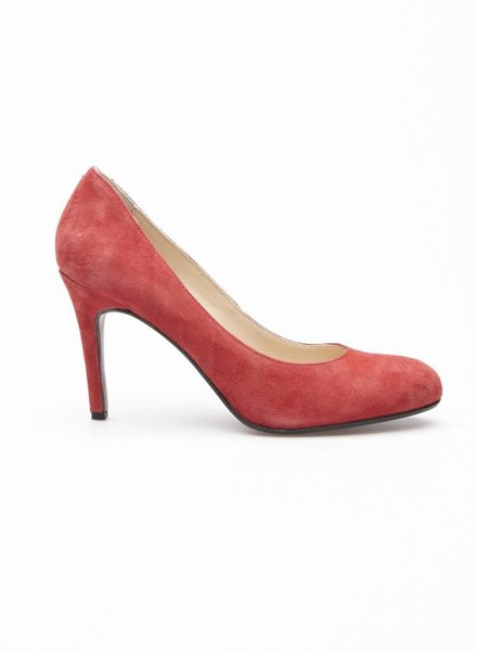 Noë RED SUEDE PUMPS