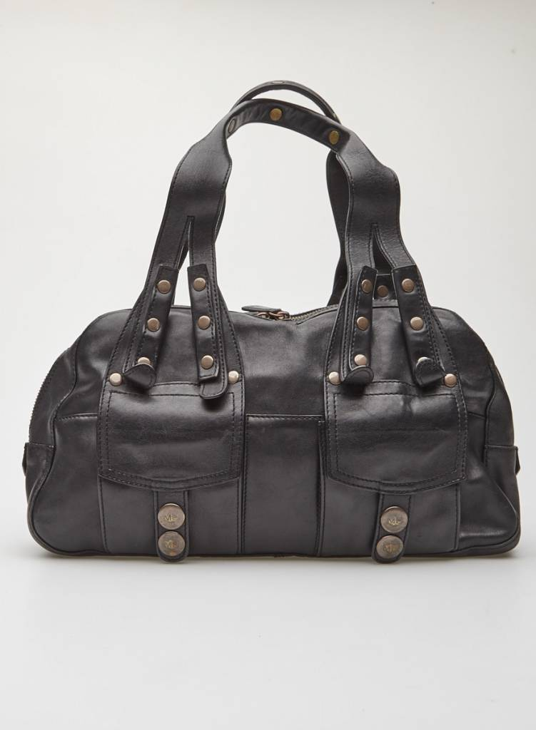848d26db440 Black Leather Bag - MARC JACOBS - DEUXIEME EDITION