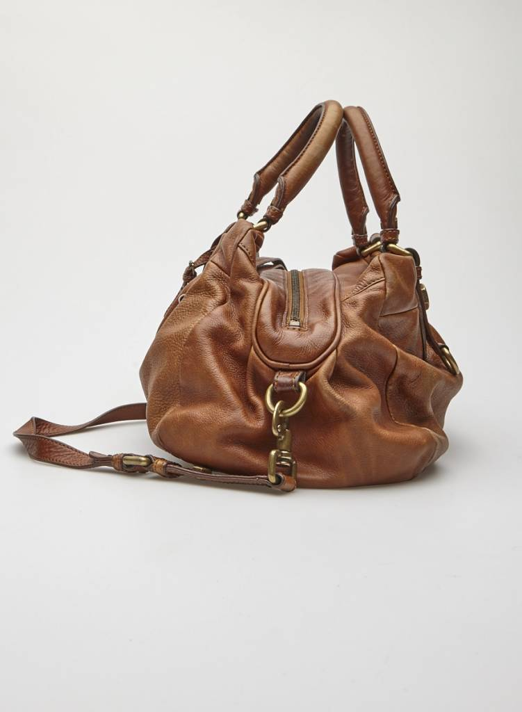 Marc by Marc Jacobs Brown Leather Bowling Bag