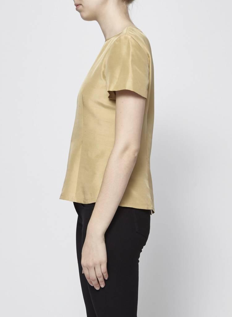 Dana Buchman Gold Silk Blouse