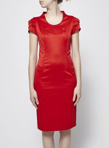 Bodybag by Jude RED STRUCTURED DRESS