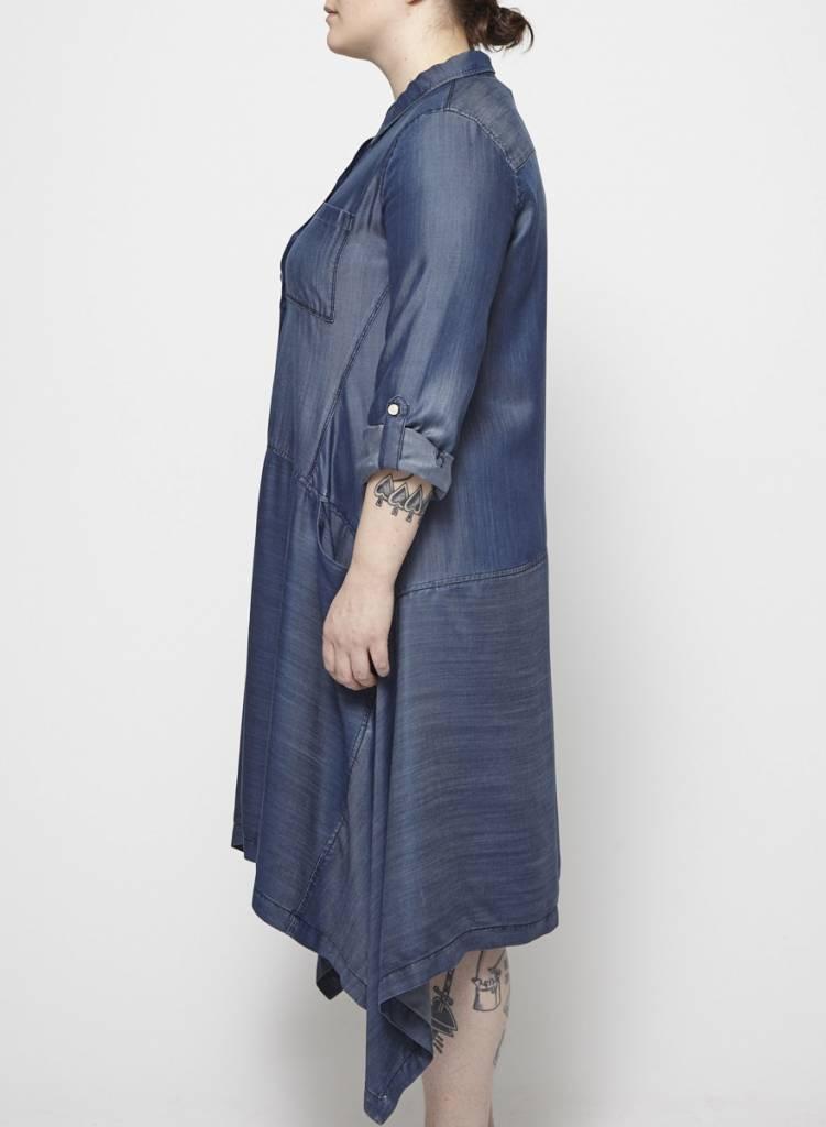 Pure DKNY Robe chambray avec poches