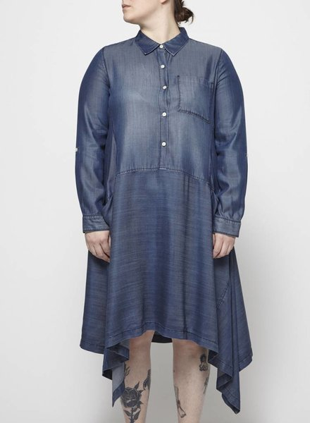 Pure DKNY CHAMBRAY DRESS WITH POCKETS