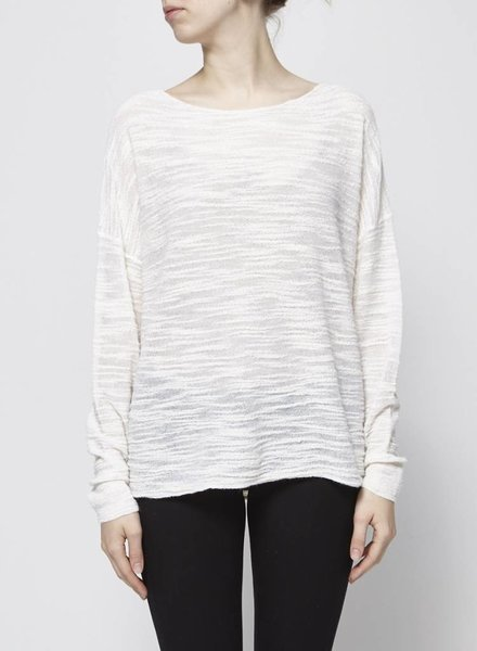 Pure DKNY CREAM KNIT SWEATER