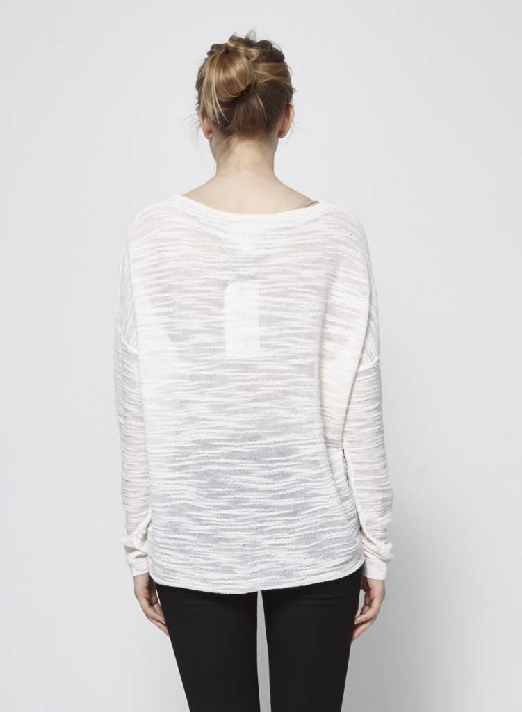 Pure DKNY Pull blanc cassé en tricot