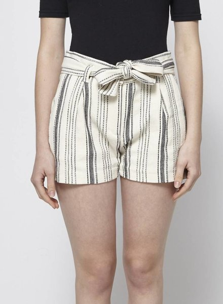My Sunday Morning STRIPED COTTON SHORTS