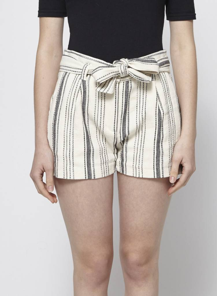 My Sunday Morning Striped Cotton Shorts