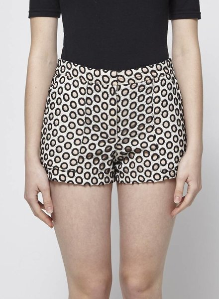 J.Crew PINK AND BLACK EYELET-EMBELLISHED SHORTS
