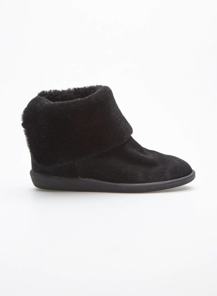 Marc Cain BLACK SUEDE WEDGE HEEL BOOTS