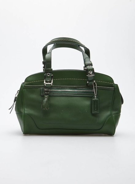 Coach KELLY GREEN LEATHER SATCHEL