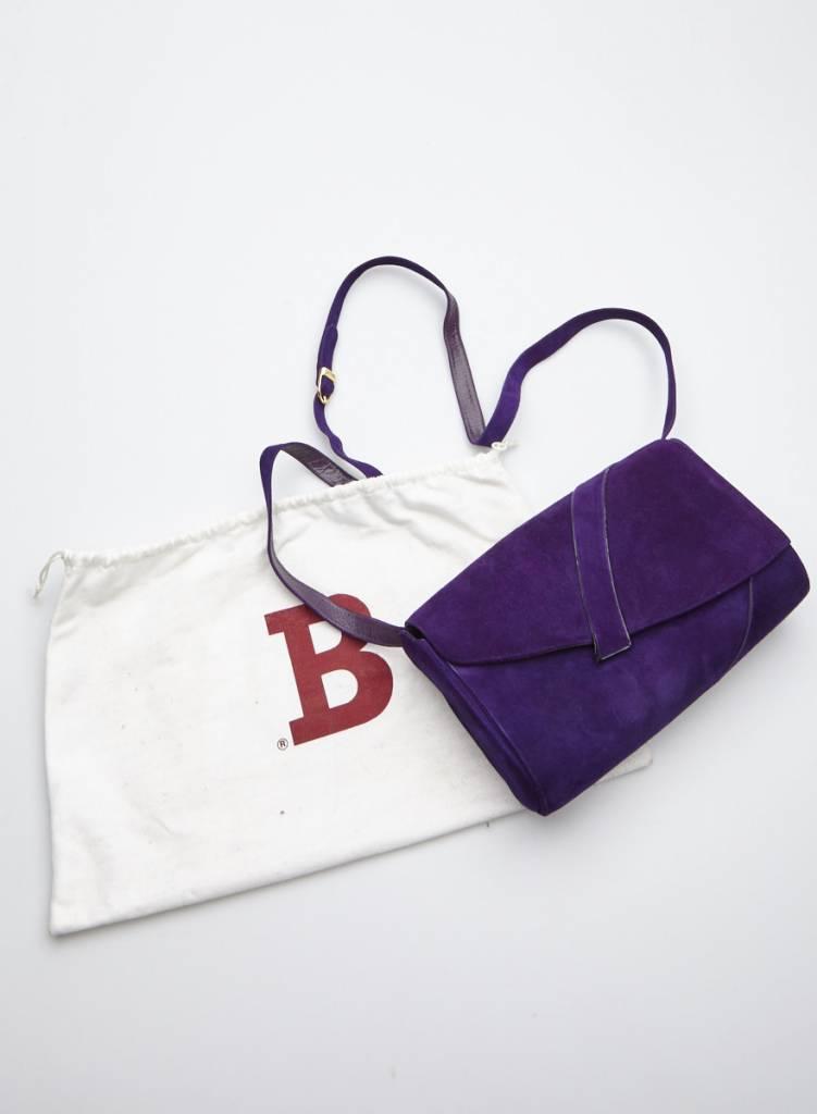 Bally Sac à bandoulière violet en suède