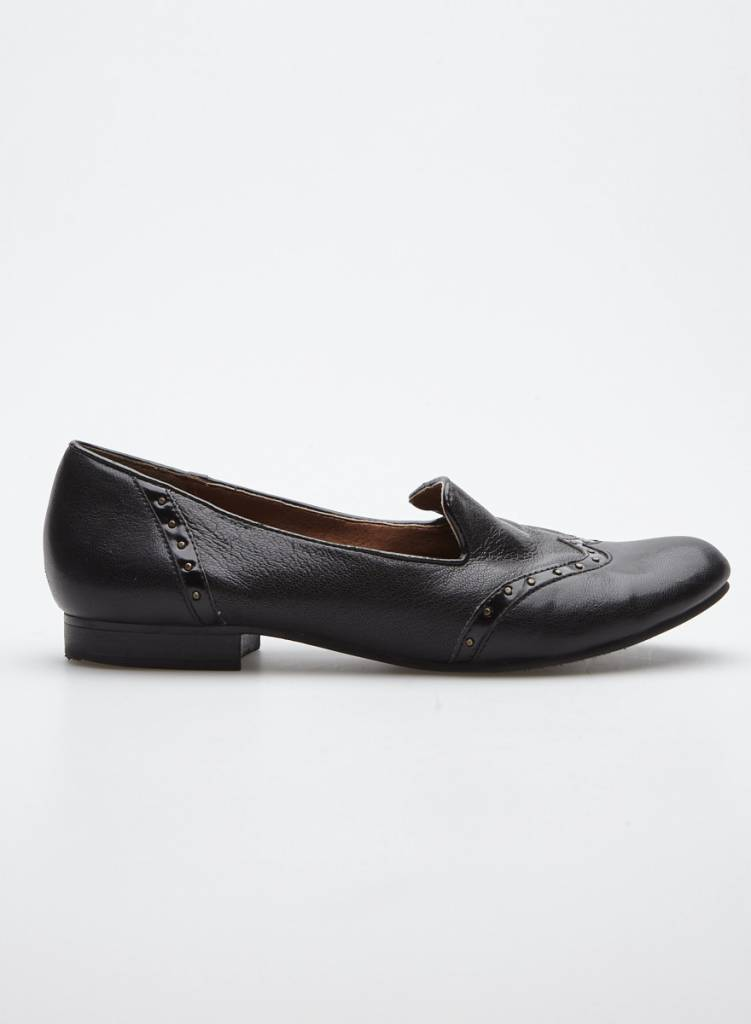 Naturalizer Black Studded Leather Loafers