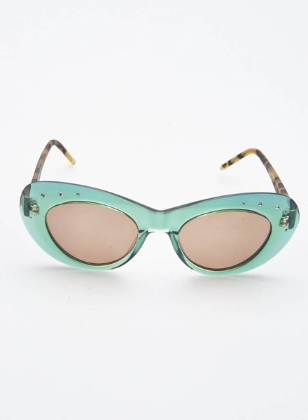 DARKK Edelweiss TURQUOISE AND TORTOISE SUNGLASSES WITH SMALL STONES