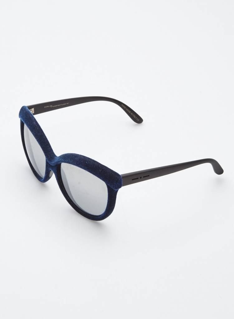Italia Independent Lunettes de soleil bleues en velours