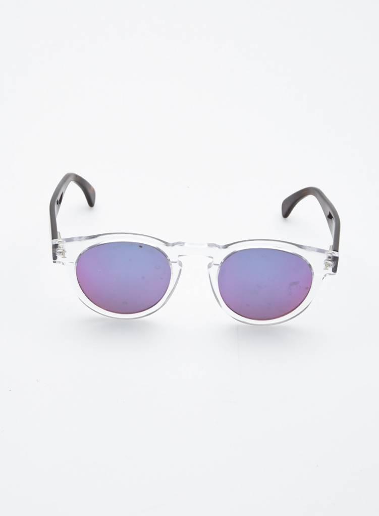 Illesteva Transparent Sunglasses with Iridescent Lenses