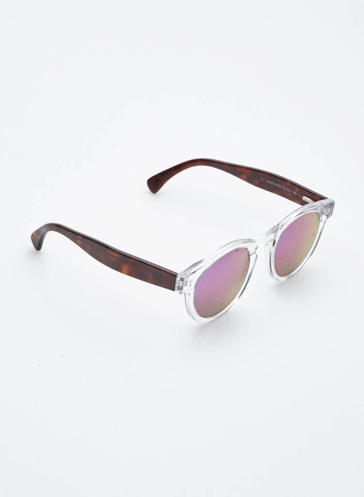 Illesteva Lunettes de soleil transparent  et marron verres iridescents