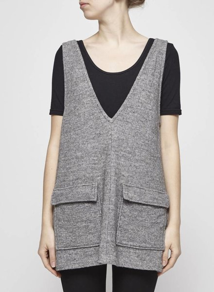 Odeyalo GREY JUMPER DRESS WITH WOOL