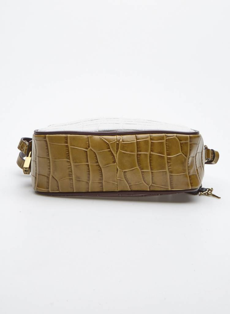J.Crew Crocodile-Effect Leather Handbag - New