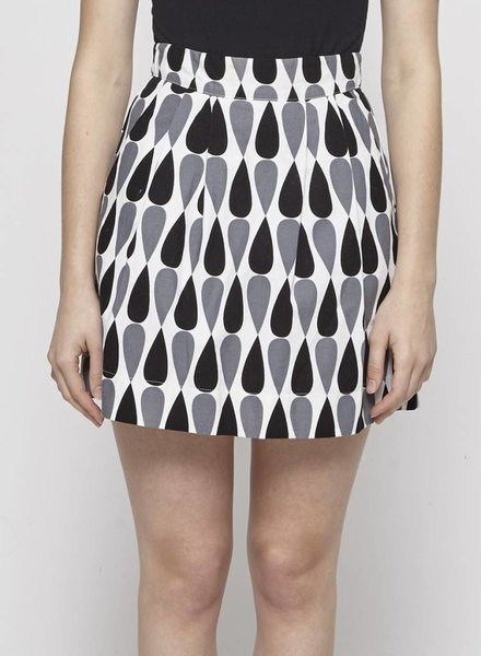 Birds of North America PATTERNED PLEATED COTTON SKIRT