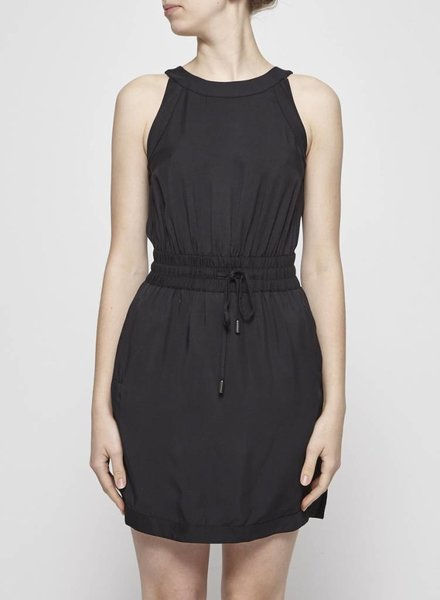 Banana Republic BLACK HALTERNECK DRESS WITH ELASTIC WAISTBAND