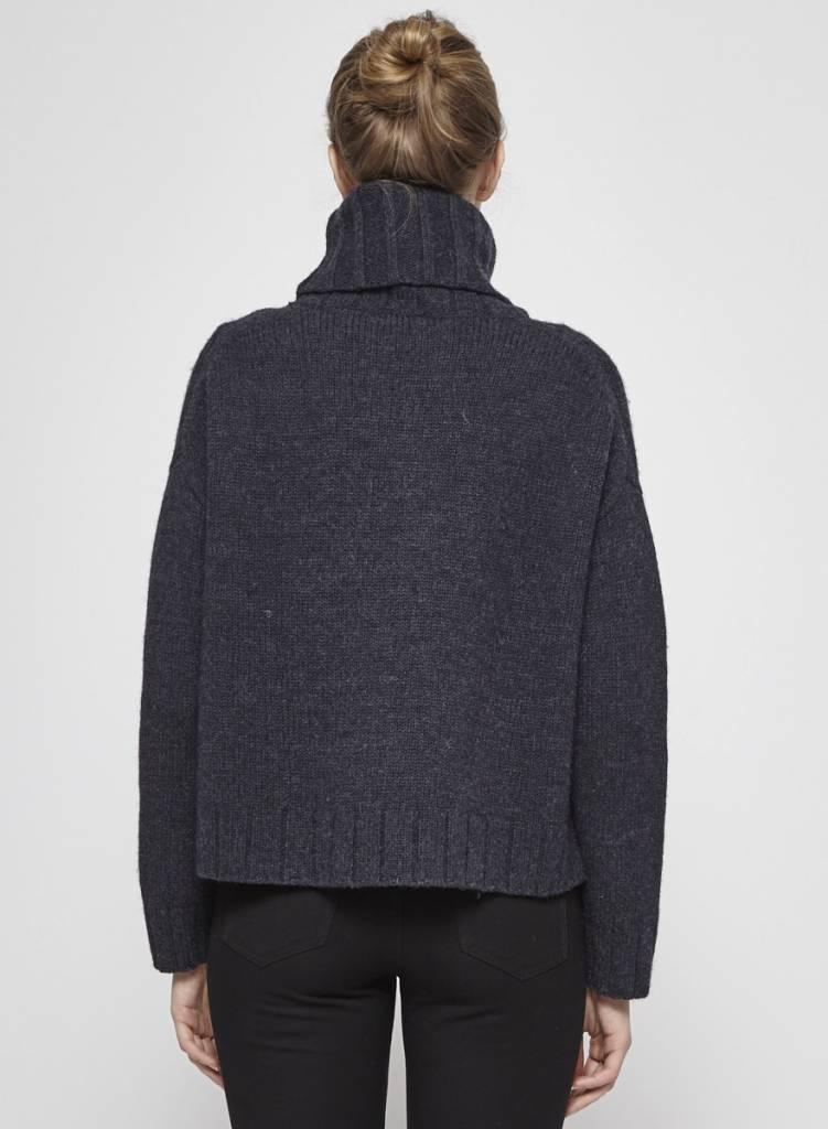 naïf Pull gris foncé en laine