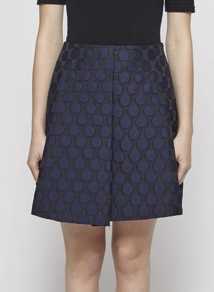 Tara Jarmon BLUE POLKA DOT SKIRT