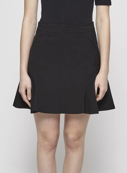Diane von Furstenberg BLACK PLEATED STRUCTURED SKIRT