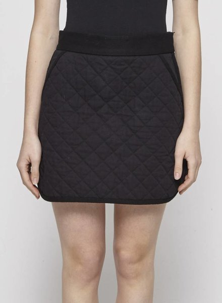 M Missoni BLACK QUILTED COTTON DRESS