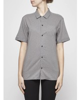 AllSaints GRAY SHIRT WITH SHORT SLEEVES AND SMALL PATTERNS