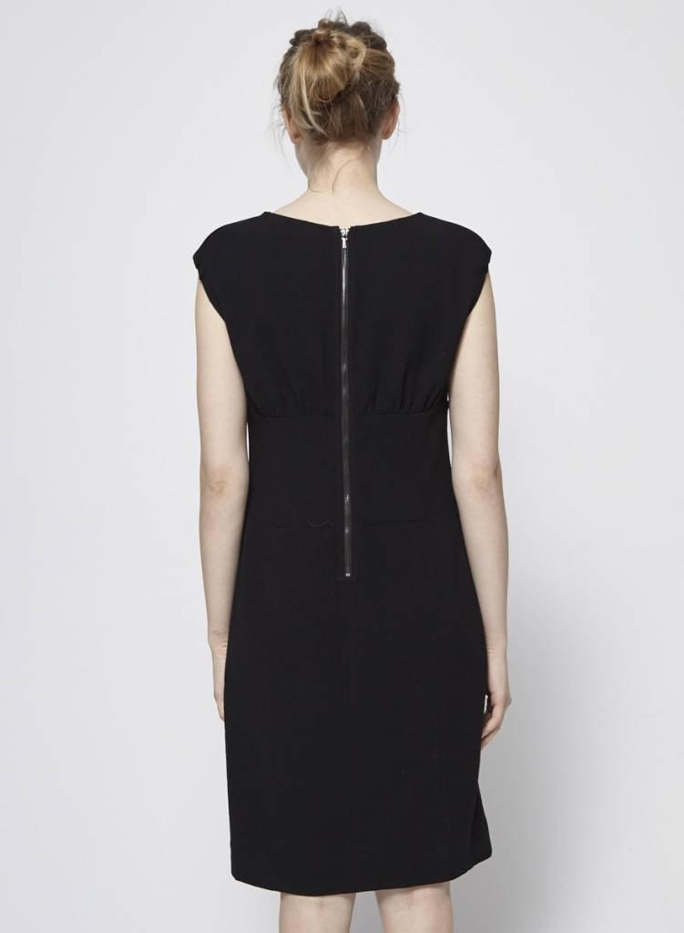 Tory Burch Robe noire torsadée en laine