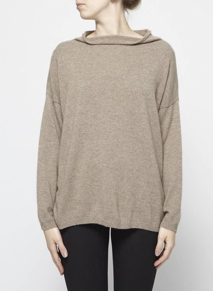 Jumper 1234 BROWN MOCK NECK CASHMERE SWEATER