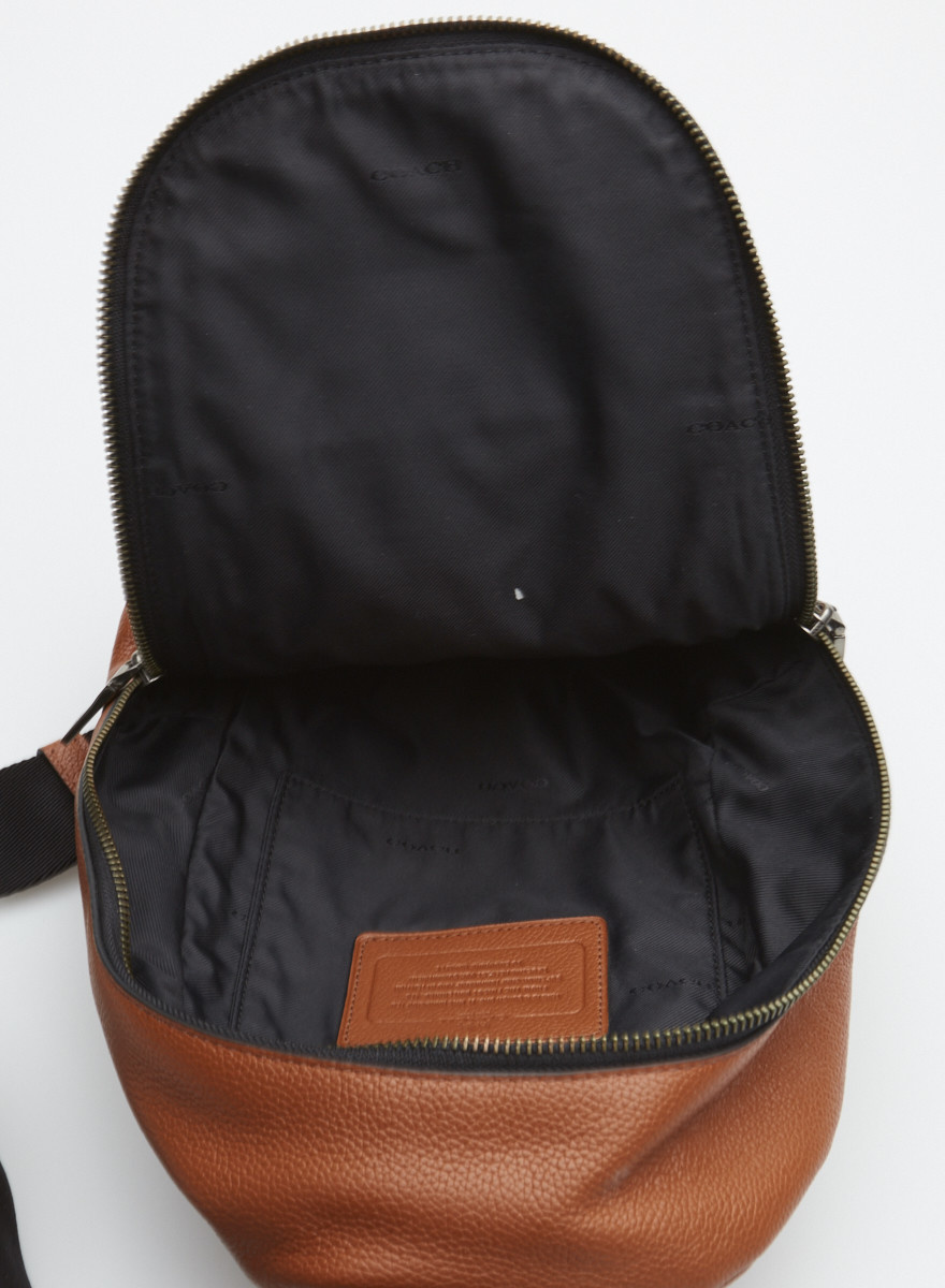 Coach Brown Leather Shoulder Backpack