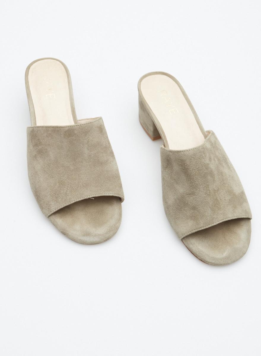 Raye Grey Suede Mules