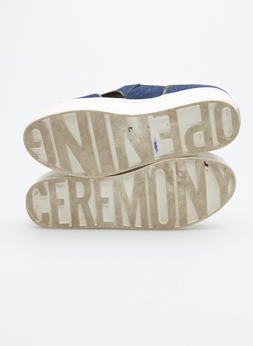 Opening Ceremony Espadrilles  en denim marine