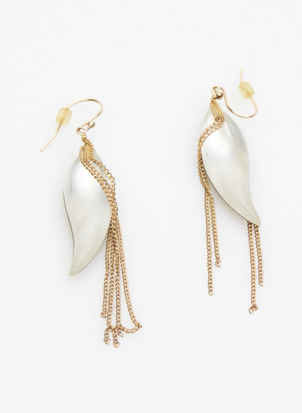 Alexis Bittar TWO-COLOR FINE-STRANDED EARRINGS