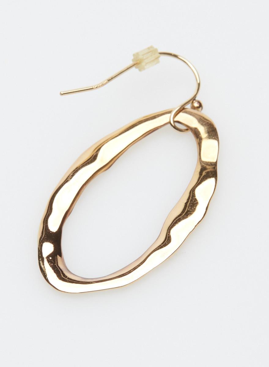 Alexis Bittar Boucles d'oreilles froissées dorées ovales