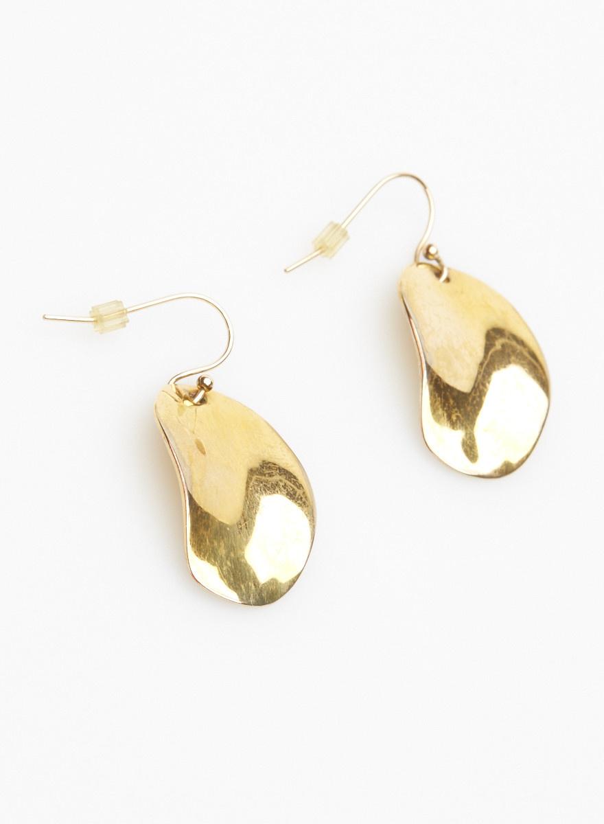 Alexis Bittar Boucles d'oreilles dorées ovales