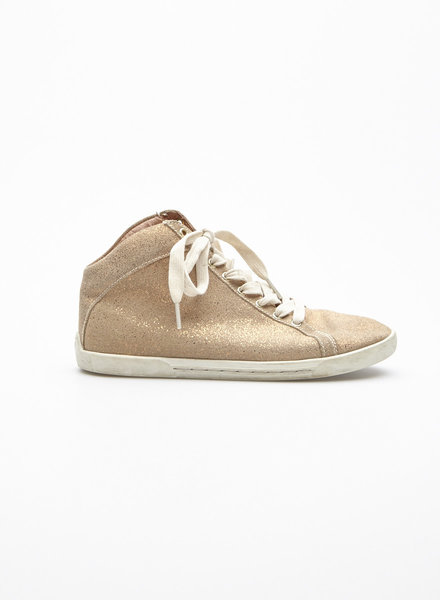 Joie METALLIC HIGH-TOP SNEAKERS