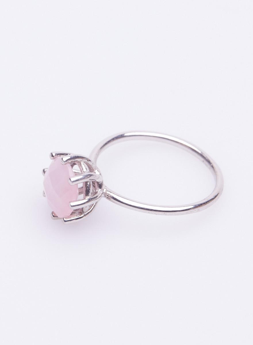 The Right Hand Gal Bague en argent avec pierre rose semi-précieuse - Neuve