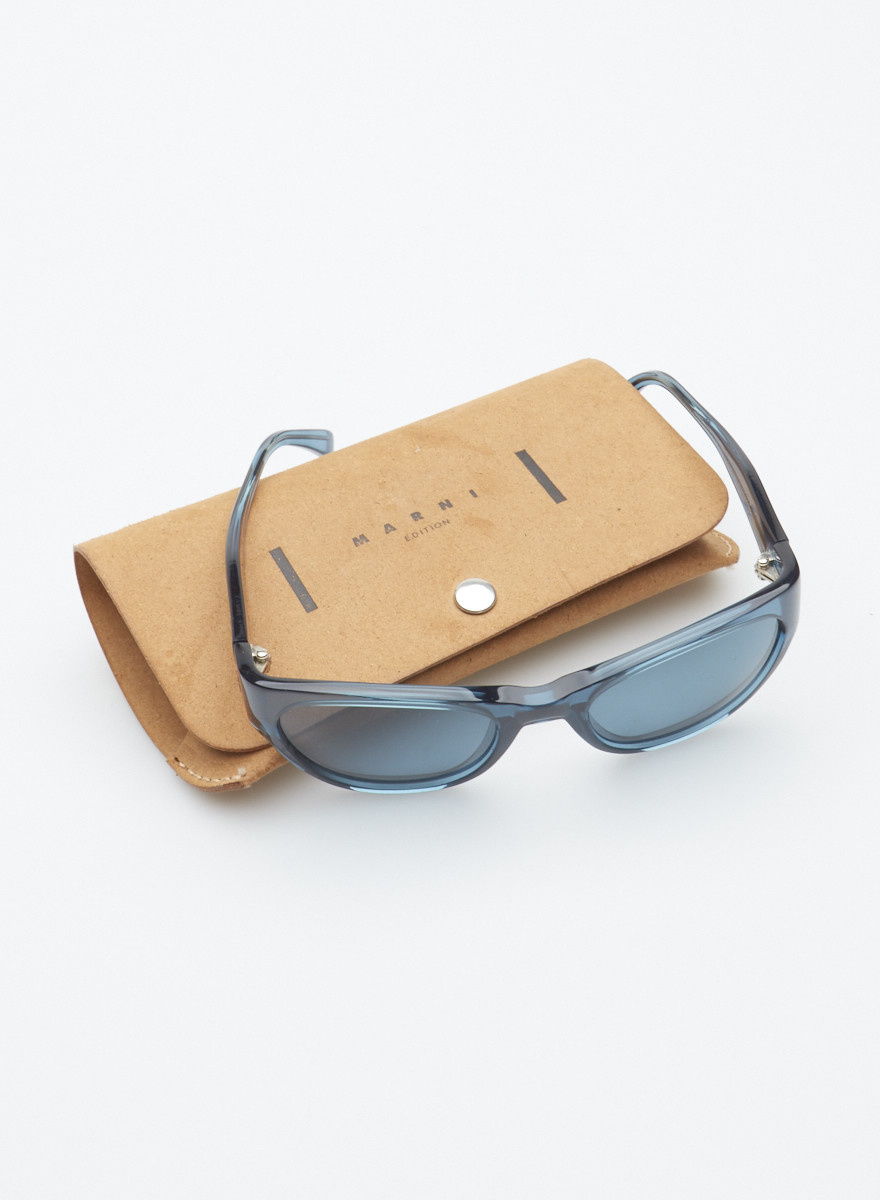 Marni Navy Sunglasses