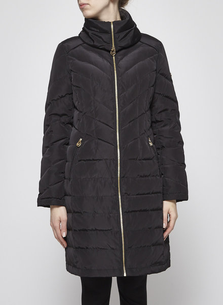Michael Kors BLACK QUILTED COAT