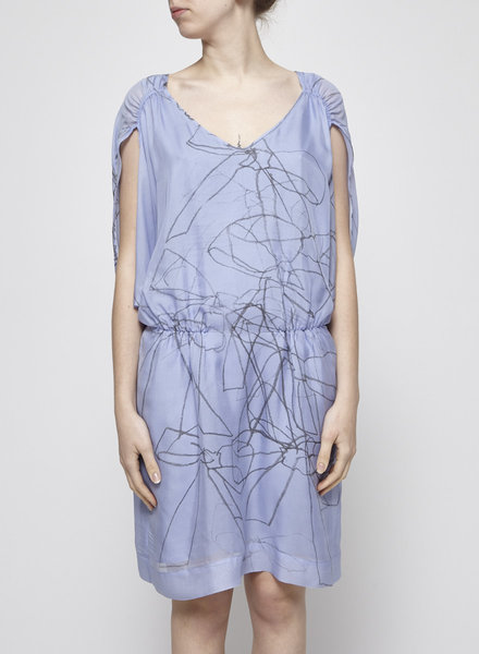 Designers Remix - Charlotte Eskildsen ON SALE - PERIWINKLE BATWING SLEEVES DRESS