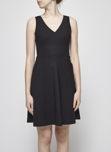 Theory BLACK STRUCTURED DRESS WITH POCKET