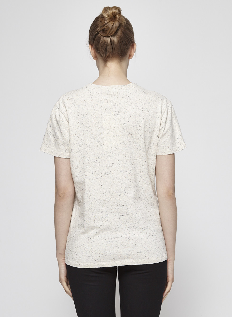 Atelier B T-shirt beige à mini pois multicolores