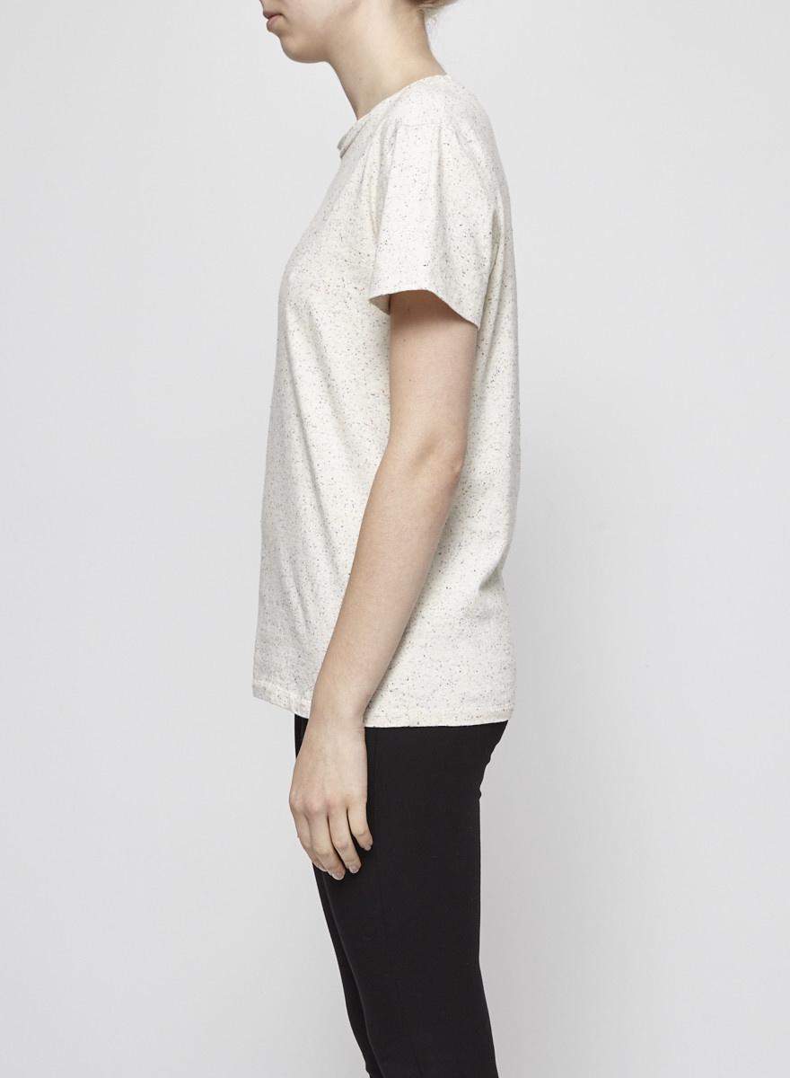 Atelier B Multicolor Polka-Dot Beige T-Shirt