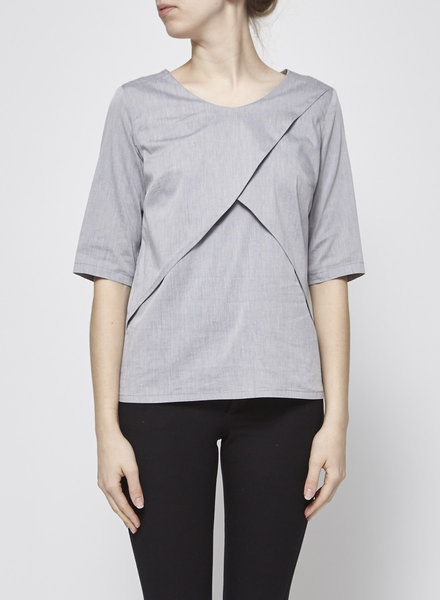 Josiane Perron GREY WRAP TOP