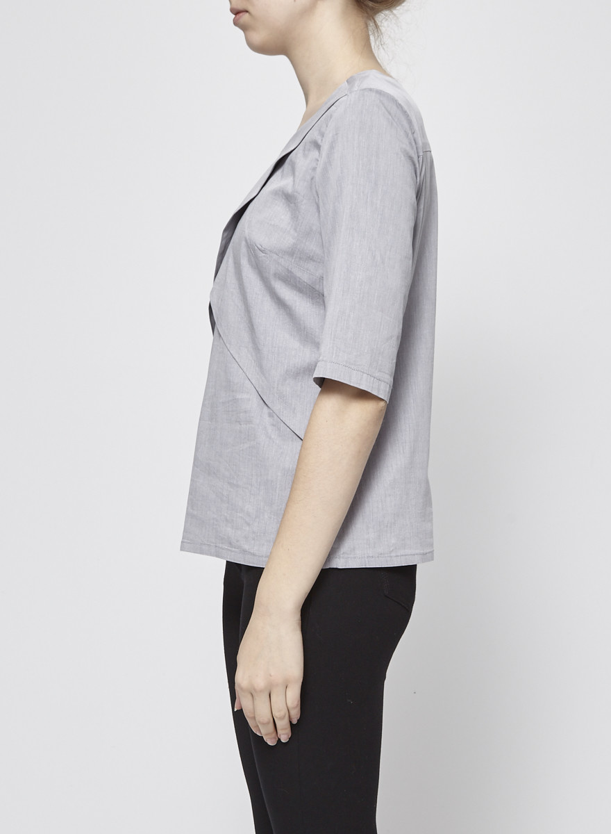 Josiane Perron Grey Wrap Top