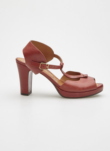 Chie Mihara RUST LEATHER SANDALS