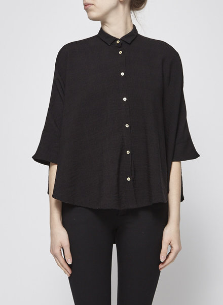 Noemiah BLACK CAPE SHIRT